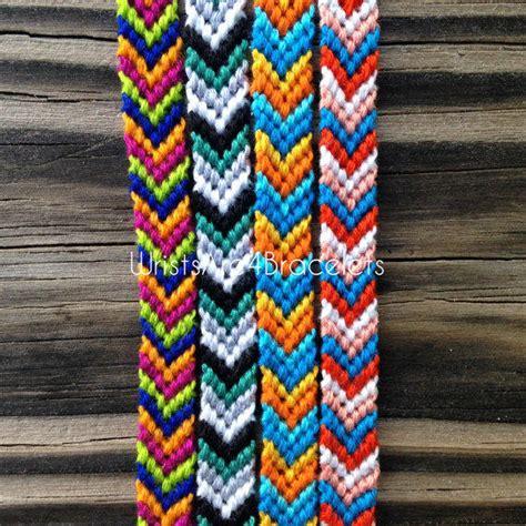 friendship color colorful chevron friendship bracelets from