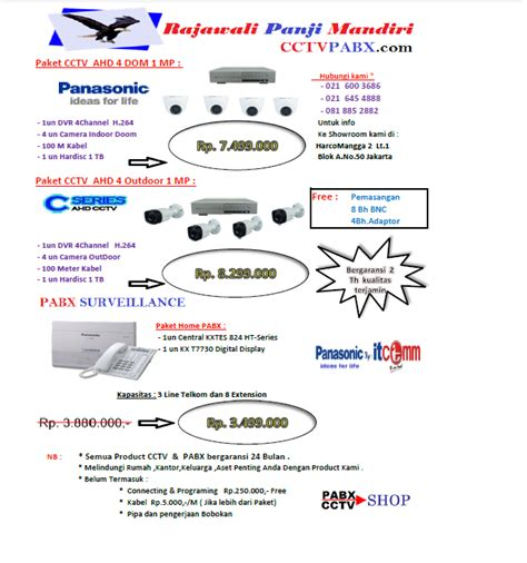 Top Cctv Ahd Paket 4 Channel by Cctv Pabx Indonesia Dealer Cctv Panasonic Murah Pabx
