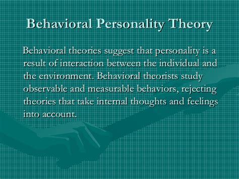 personality theories personality theories