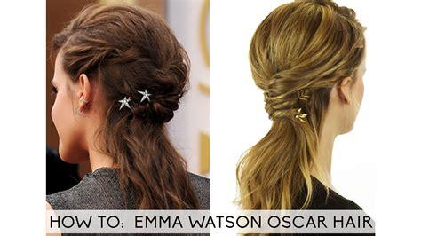 emma watson hairdos easy step by step emma watson hair oscar 2014 tutorial youtube
