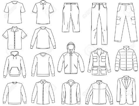 templates clipart clothes pencil and in color templates