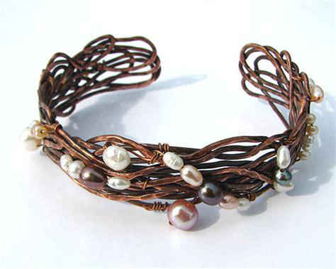 Handmade Copper Cuffs - hammered copper cuff bracelet copper wire bracelet handmade