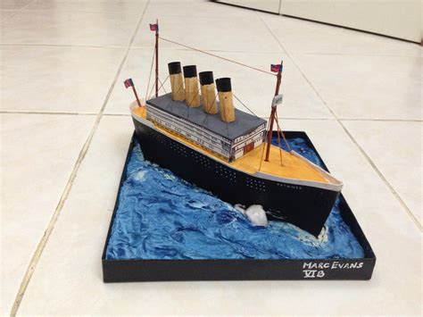 How To Make A Titanic Model Out Of Paper - miniature titanic created as a school project for my