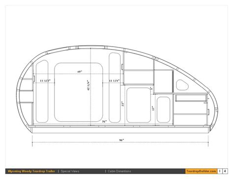teardrop trailer floor plans wyoming woody teardrop plans teardrop builder teardrop