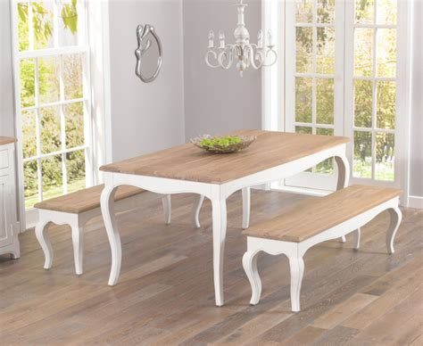 shabby chic dining bench parisian 175cm shabby chic dining table and benches the