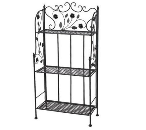 Folding Bakers Rack by 3 Shelf Folding Bakers Rack By Valerie Qvc