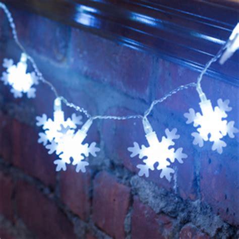 snowflake string of lights string lights led battery solar lights com
