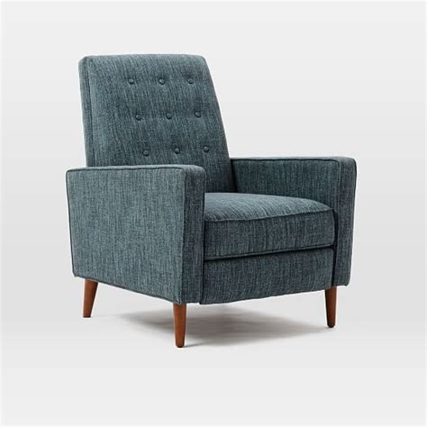 west elm recliner rhys mid century recliner west elm