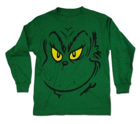 laste ned filmer dr seuss the grinch dr seuss grinch face long sleeve boy s t shirt green 4