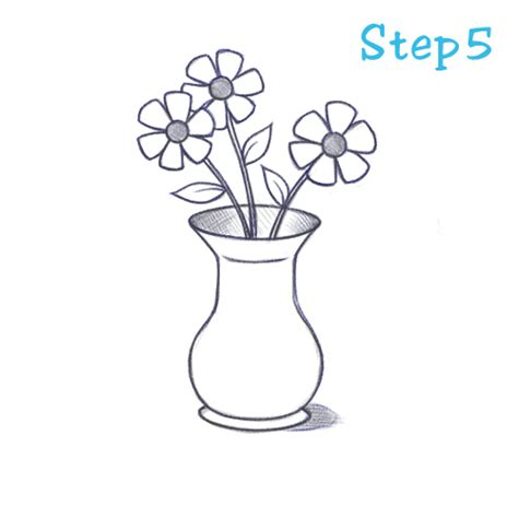 How To Draw Flowers In A Vase how to draw a flower vase beginning sketch2draw