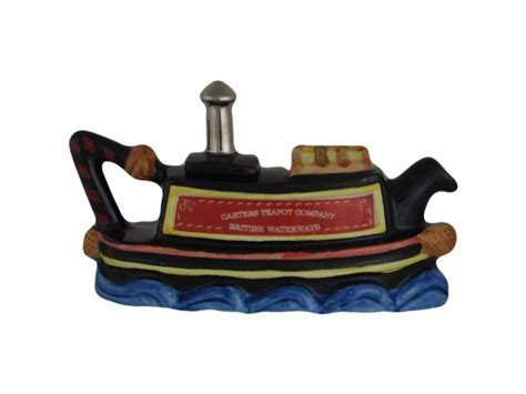 Canal Boat One Cup Novelty Teapot Carters of Suffolk