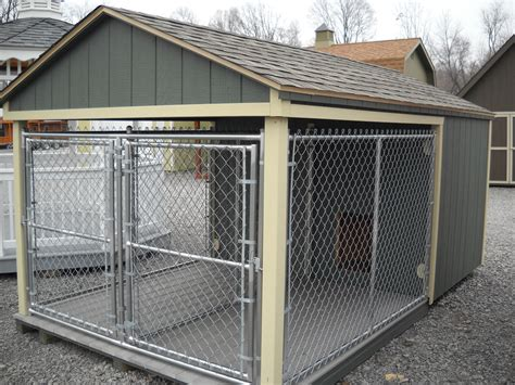 dog house with kennel large dog kennels dog breeds picture