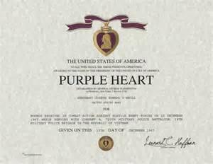 purple citation template purple medal certificate
