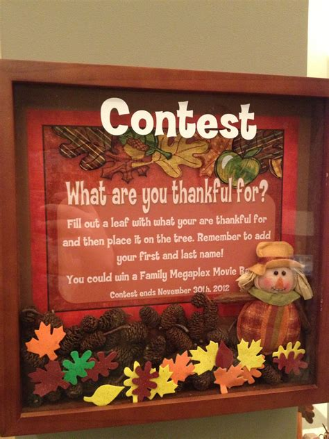 Sweepstake Ideas - https www facebook com watsonortho thanksgiving tree lobby contest orthodontist