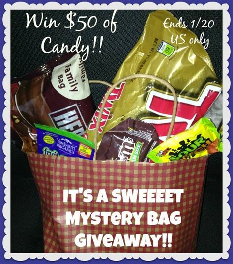 Free Candy Giveaway - mystery bag filled w candy giveaway ends 1 20 14 it s free at last