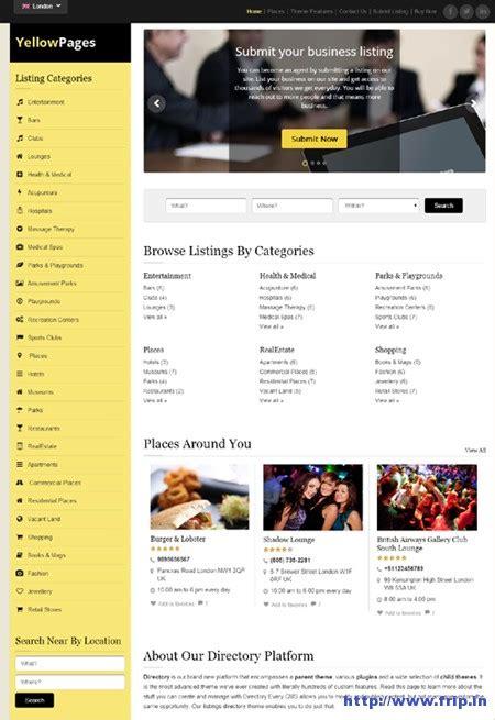 theme wordpress yellow 12 best classified wordpress themes 2016 free premium
