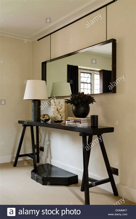 mirror over console rectangular mirror above console in bedroom of 1030s