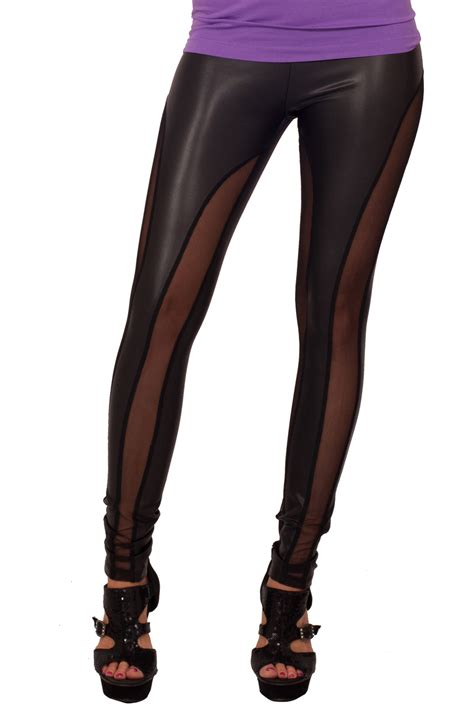 comfortable fashion mesh panel sexy comfortable fashion tights fitted pants