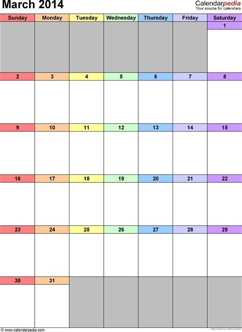 2014 monthly calendar templates calendar template 2016