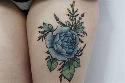 imagenes de tattoo de flores tatuajes de rosas azules y su significado