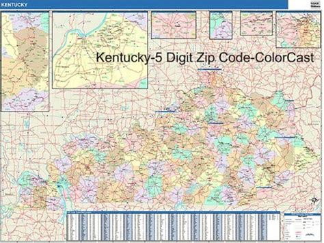 map kentucky area codes kentucky zip code map from onlyglobes