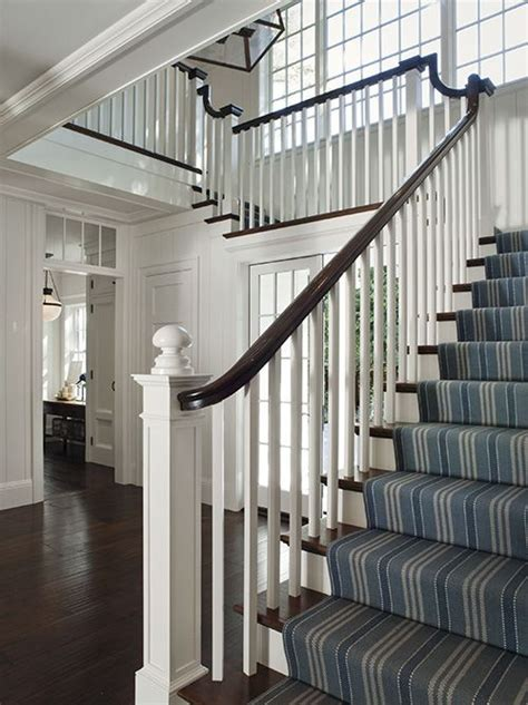 foyer stairs farmhouse cottage hello white farmhouse on