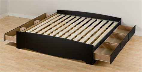 Platform Bed Frame With Drawers by Enchanting Platform Bed Frame With Drawers And White