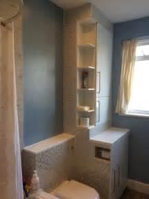 Bath Shower Units Combined boiler and washing machine housing make over ikea