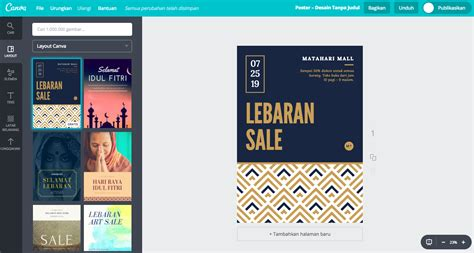 membuat poster gratis online membuat poster lebaran dengan 50 contoh desain unik canva