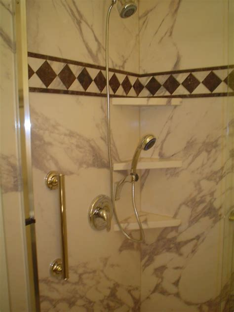decorative shower wall panels convert jetted tub into low maintenance shower cleveland