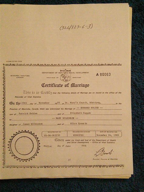 Winnipeg Marriage Records Genealogy Of Families Of Valcartier Person Page
