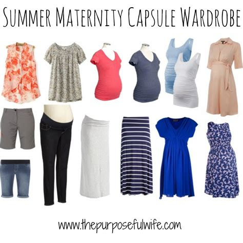 Maternity Capsule Wardrobe by The Purposeful A Capsule Maternity Wardrobe Summer