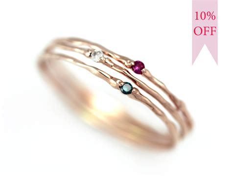 stackable rings birthstone simple engagement by