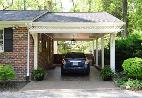 Pergola Style Carport building a garage or carport pergola house
