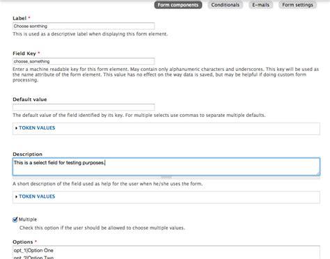 theme select list drupal webform select list multiple selection drupal answers