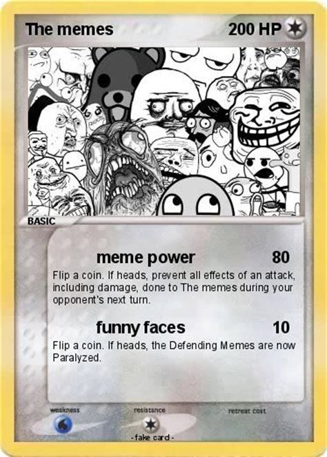 Cards Meme - pok 233 mon the memes meme power my pokemon card
