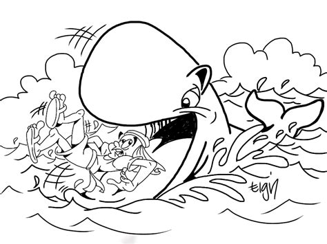 Jonah And The Whale Coloring Pages Az Coloring Pages Jonah And The Big Fish Coloring Page