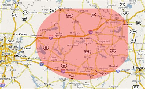map of arkansas and texas timber cutting region area radius texas oklahoma arkansas louisiana