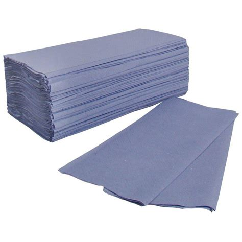 Paper Towel Folding - blue c fold towels