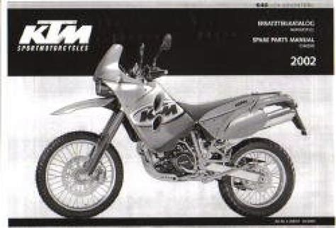 Ktm 640 Lc4 Parts 2002 Ktm 640 Lc4 Adventure Chassis Spare Parts Manual