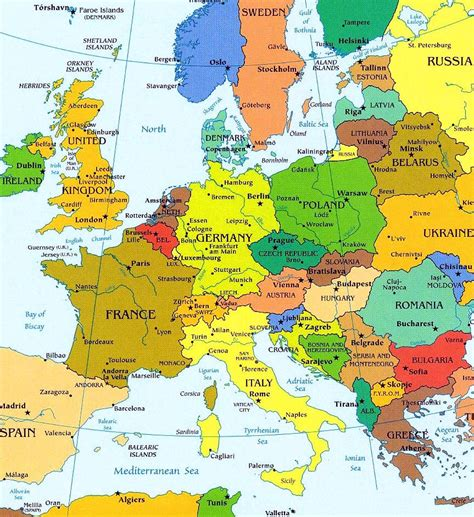 map of europe map map of europe