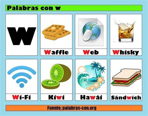 imagenes en ingles con la letra o palabras con la letra w w ejemplos de palabras con w