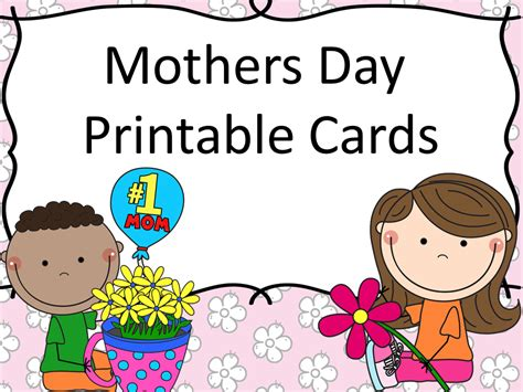 preschool mothers day card template s day printable cards