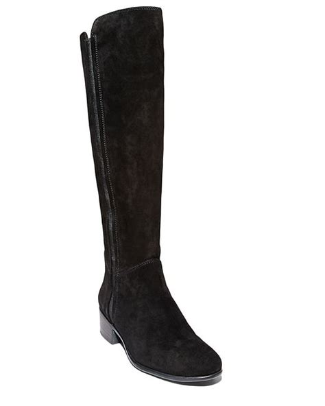 steve madden knee high boots steve madden pullon suede knee high boots in black save