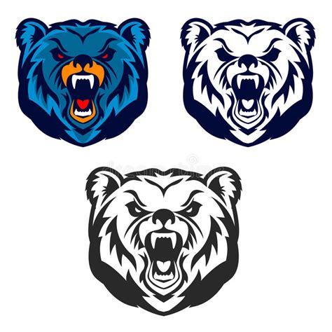 bear mascot emblem   sport team  club stock