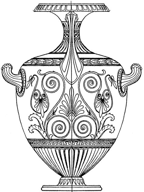greek vases coloring page greek hydria clipart etc