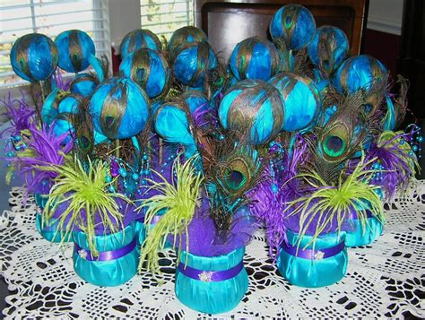 peacock themed decorations peacock wedding reception table centerpiece receptions