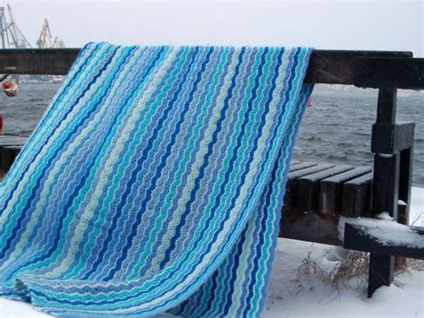 small ocean waves crochet blanket in beautiful blues blue waves crochet blanket crochet kingdom