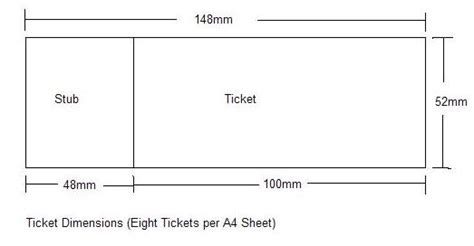 ticket size template ticketmaker ticket maker concert tickets and concerts on