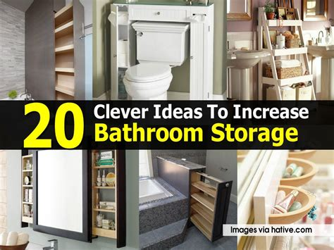clever bathroom storage ideas 20 clever ideas to increase bathroom storage